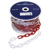 Plastic chain red/white 8mm25m