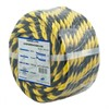 Caution rope stranded black/yellow 10mm25m